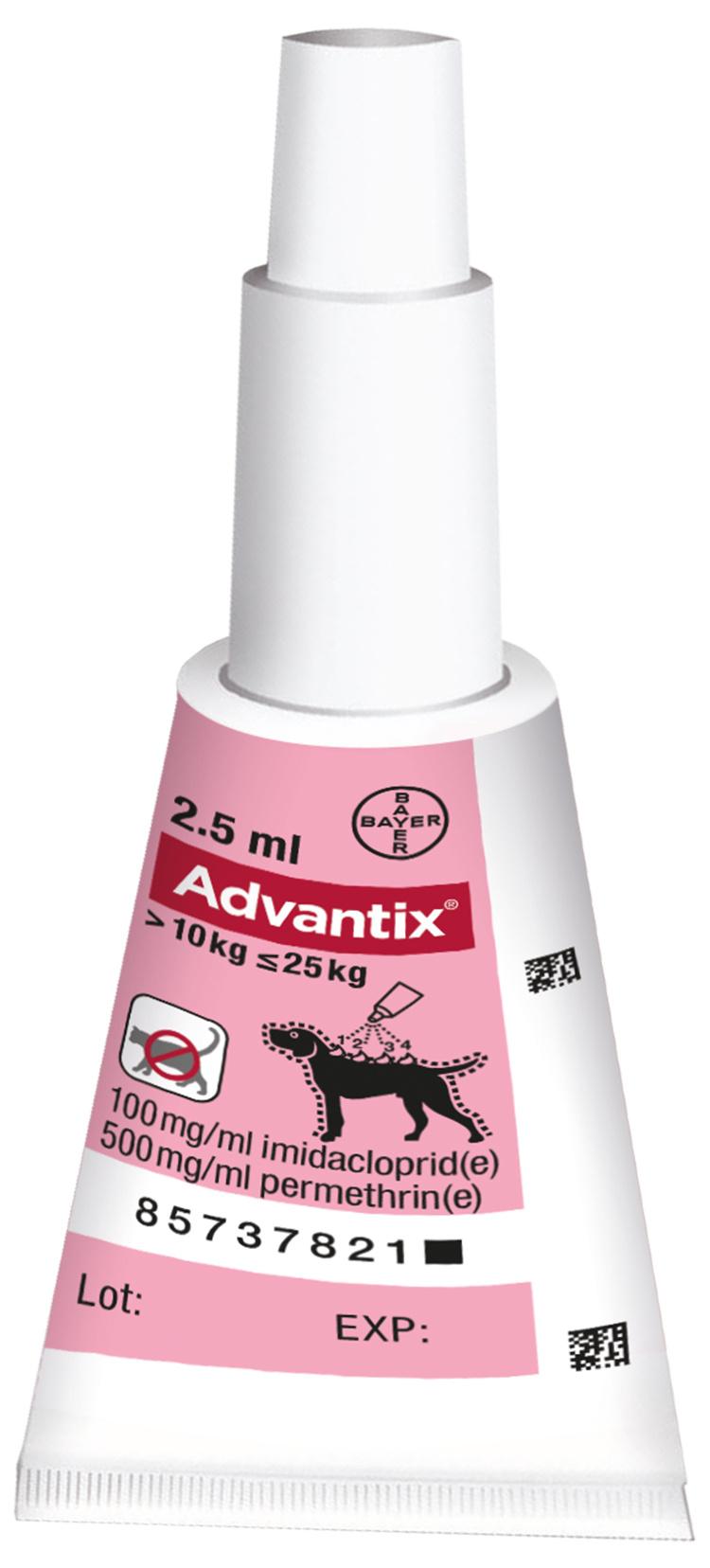 Advantix spot-on - střední