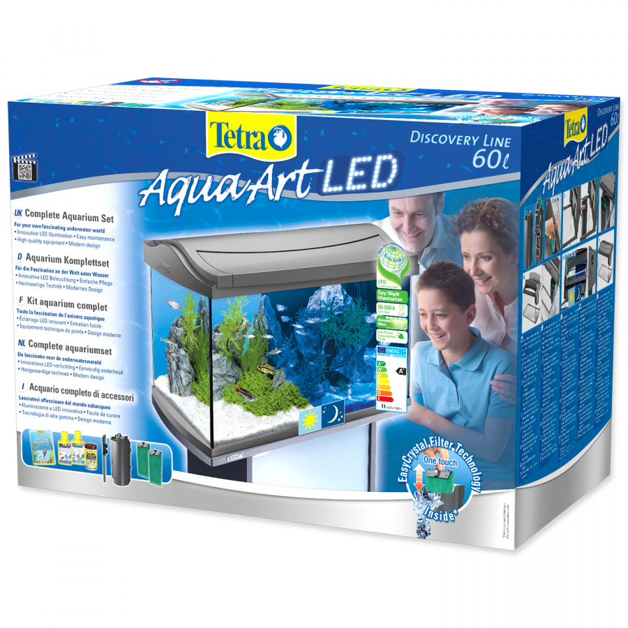 Akvárium set tetra aquaart led 60l