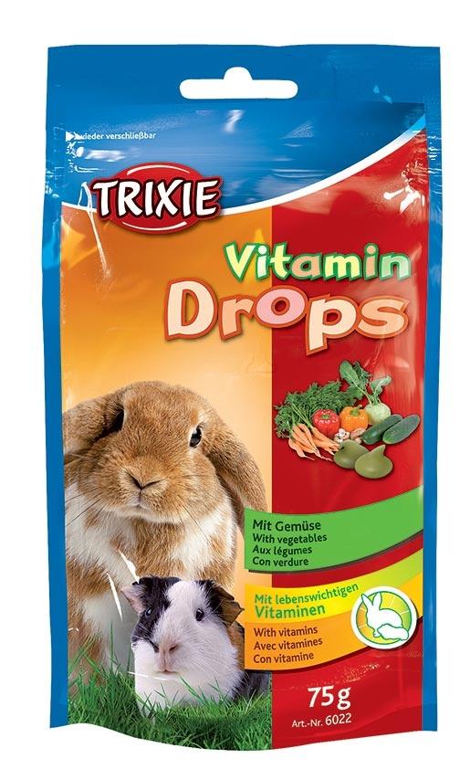 Dropsy pro hlodavce Trixie 75g zelenina