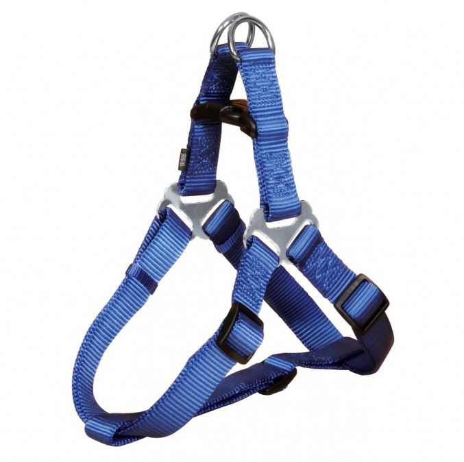 Postroj pro psy Trixie Premium M modrý