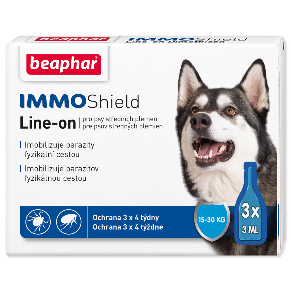 Beaphar Line-on IMMO Shield pes M 3x3ml Beaphar Line-on Immo Shield pro psy M 9 ml