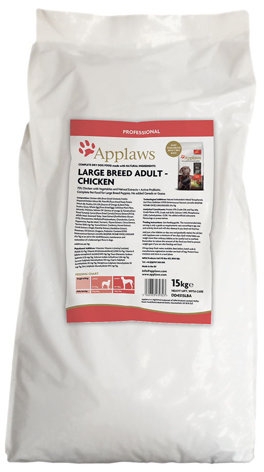 APPLAWS Dry Dog Chicken Large Breed Adult 15kg