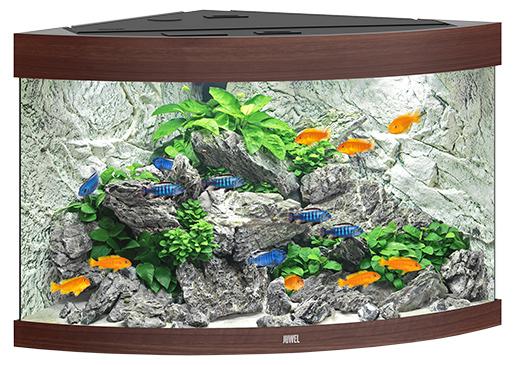 Juwel Akvárium set Trigon LED 190 98,5x70x60cm tm.hnědé 190l Juwel
