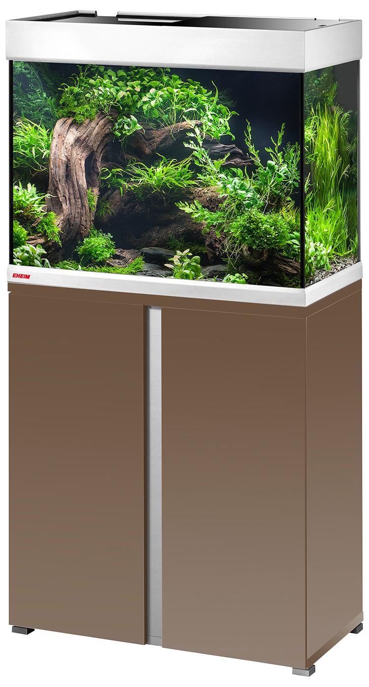 Eheim Akvárium set se stolkem Proxima 175 2*24w T5 mocha hnědá lesklá 175l, 70*50*50cm