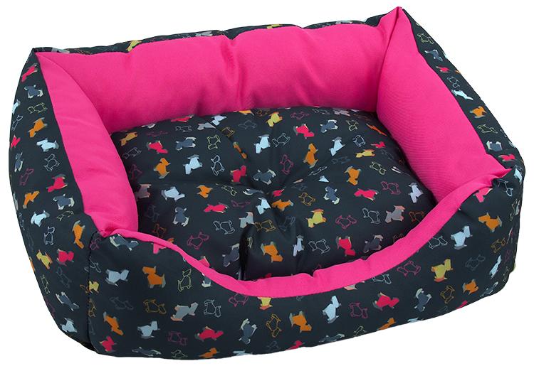 Sofa Dog Fantasy 53x43x16cm origami černo-růžová