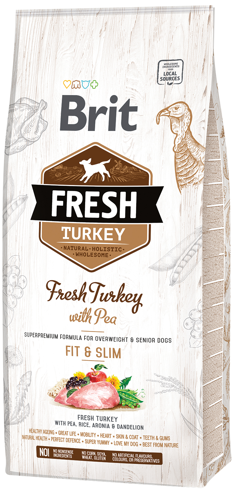 Brit Fresh Turkey with Pea Light Fit & Slim 12kg