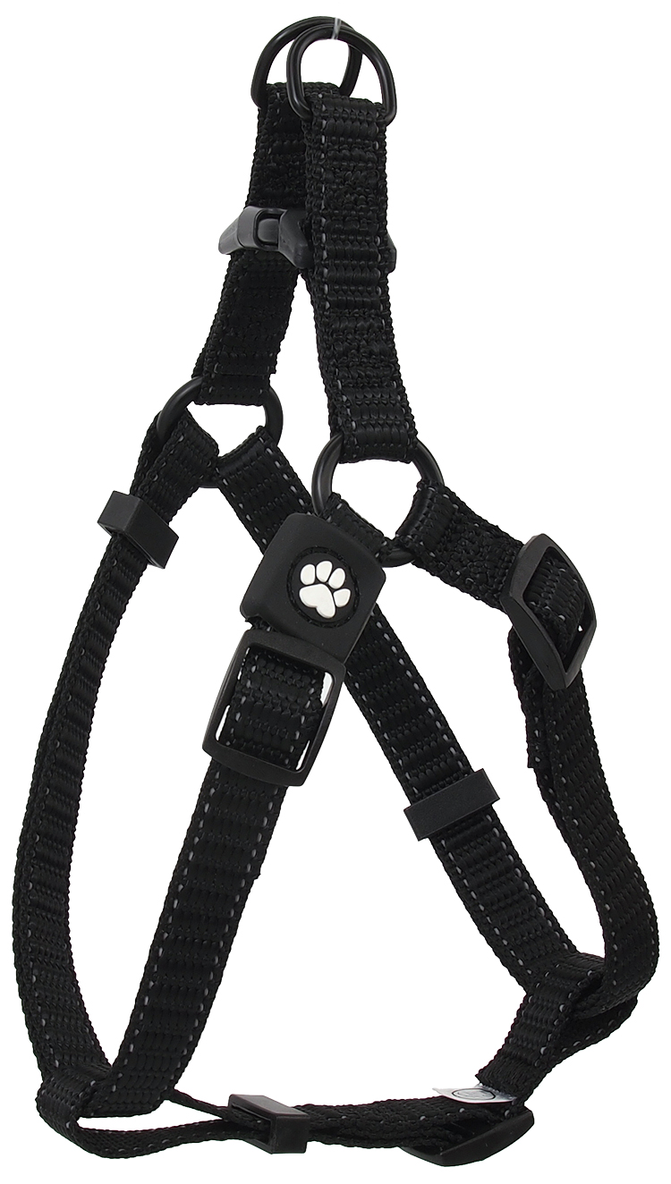 Dog Fantasy Postroj Active Dog Premium M černý 2x53-77cm