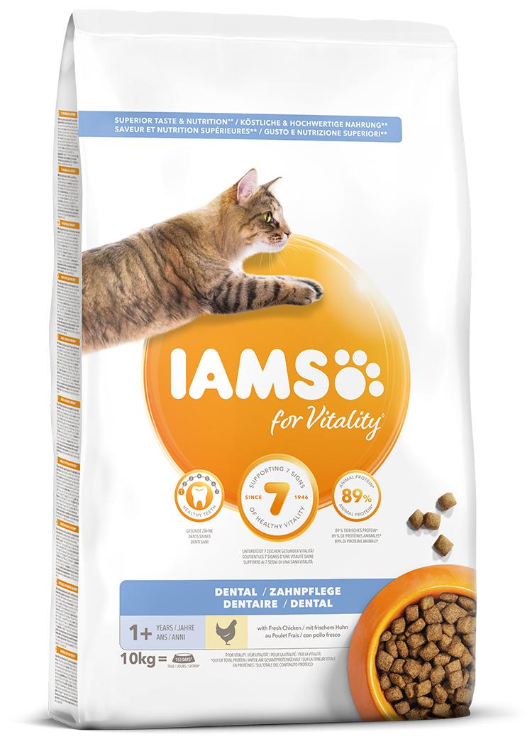 IAMS Cat Dental Adult Chicken 10kg + kuřecí kostky ZDARMA
