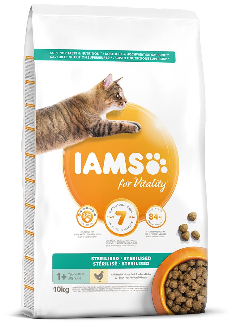 IAMS Cat Adult Sterilised Chicken 10kg