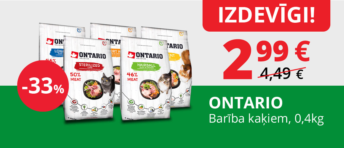 ONTARIO - Barība kaķiem, 0,4 kg