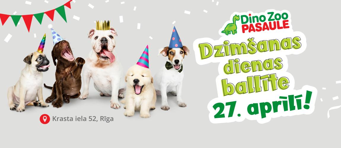 Dino Zoo Pasaulei dzimšanas diena!