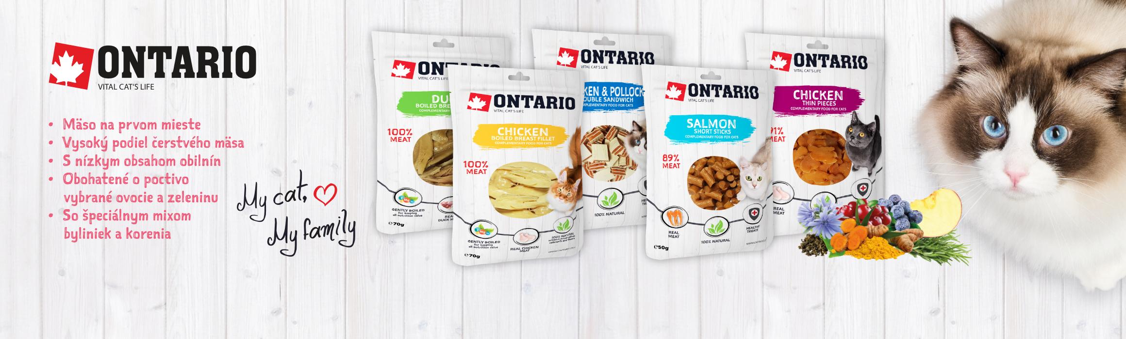 ONTARIO Doplnkové krmivo pre mačky