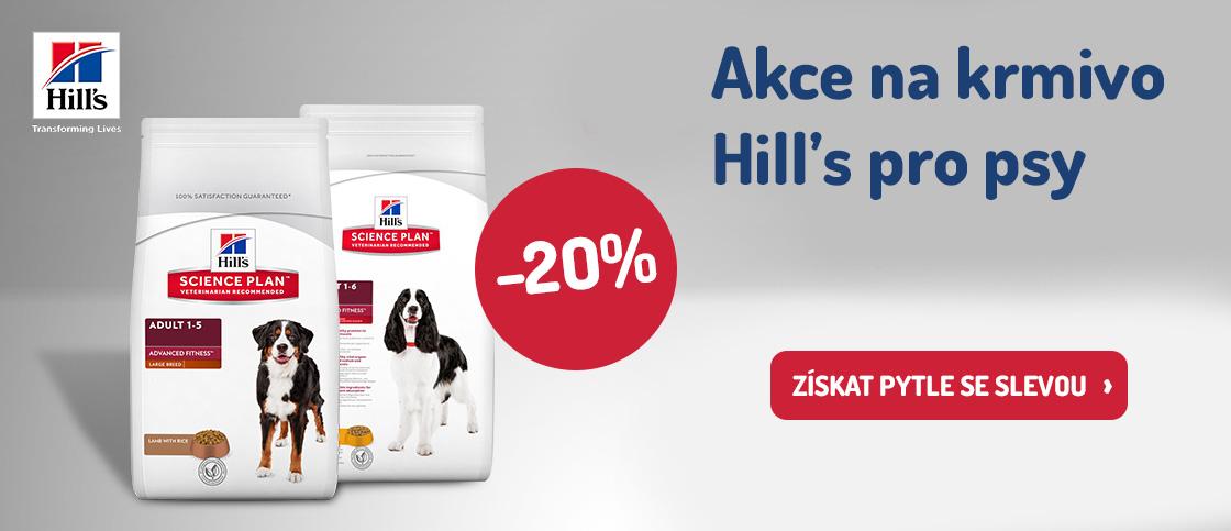 SLEVA 20 %  na Hill's pro psy
