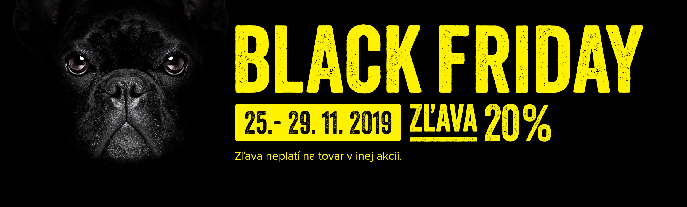 BLACK FRIDAY 20 %-ná zľava od 25. do 29. 11.