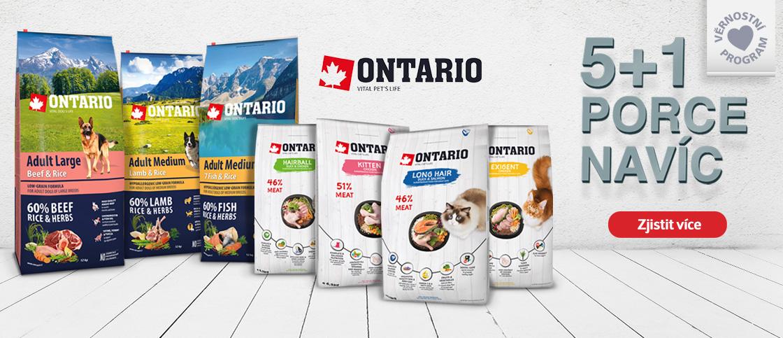 Každé 6. balení Ontario zdarma