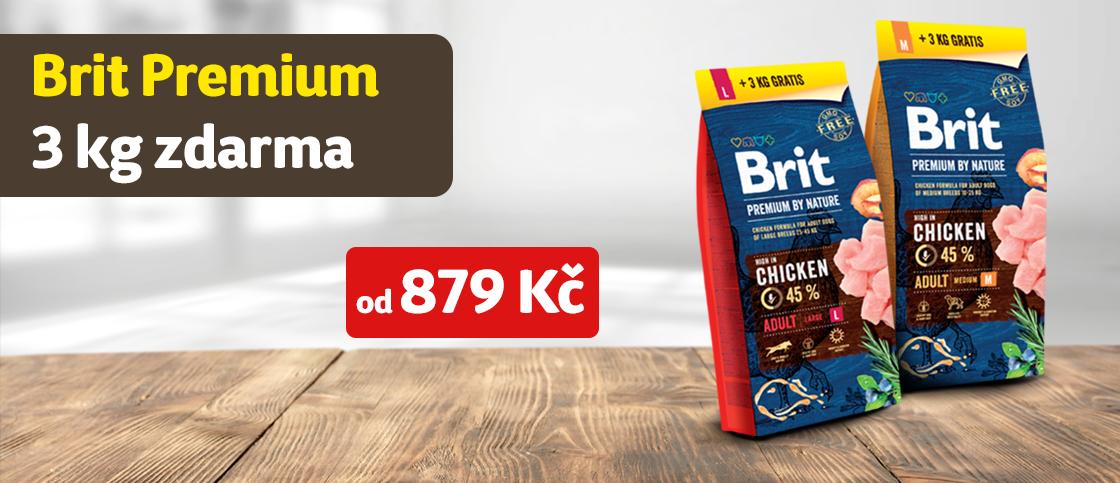 3 kg zdarma Brit Premium