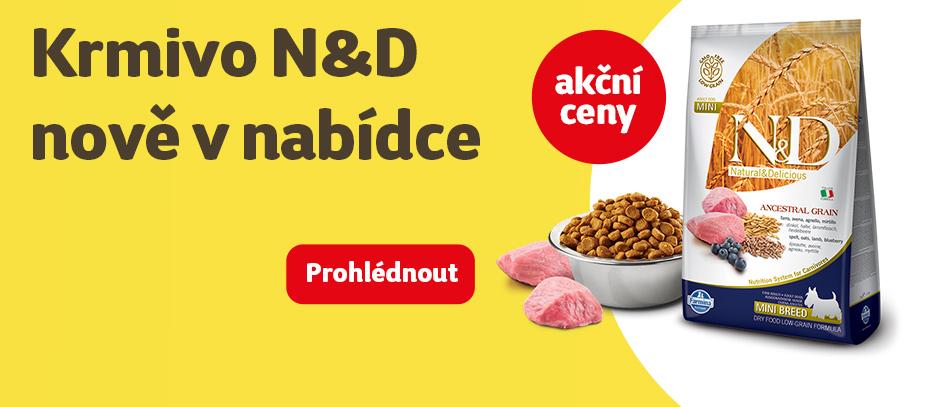 Krmivo N&D nově v nabídce