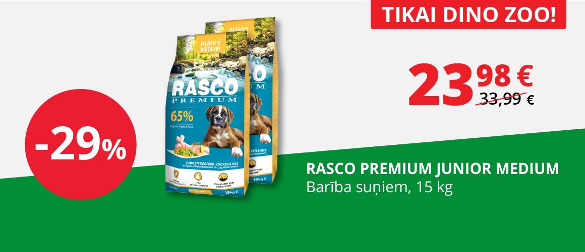 Tikai DINO ZOO - 29% suņu barībai Rasco