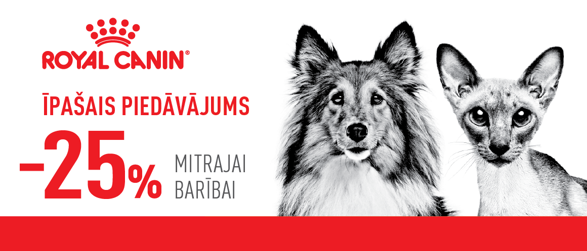 Royal Canin - 25% mitrajai barībai